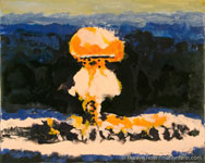 The Nuclear Bomb Series - Paintings in Encaustic