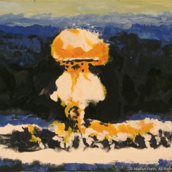 A-Bomb-Plumbbob-Priscilla-Encaustic-on-Masonite-8x10-inches-copyright-2006-Marilyn-Fenn