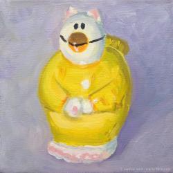 Catbird-Oil-on-canvas-6x6-inches-copyright-2011-Marilyn-Fenn