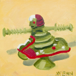 Fifteen-Minutes-for-a-Quarter-Oil-on-canvas-5x5-inches-copyright-2011-Marilyn-Fenn