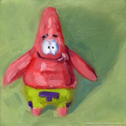 Patrick-Star-Oil-on-canvas-6x6-copyright-2011-Marilyn-Fenn