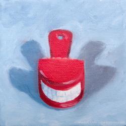 Say-Cheese-Oil-on-canvas-4x4-inches-copyright-2011-Marilyn-Fenn