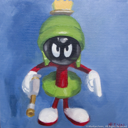 You-Earthlings-Are-Making-Me-Very-Angry-Oil-on-canvas-6x6-inches-copyright-2011-Marilyn-Fenn