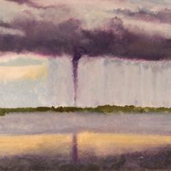 Tornado-Big-Pine-Key-Florida-04-14-2005-Encaustic-on-Masonite-8x10-inches-copyright-2007-Marilyn-Fenn