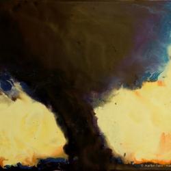 """""""Tornado Kansas 2004,"""" 8"""" x 10"""", Encaustic on Masonite, © 2006 Marilyn Fenn"""