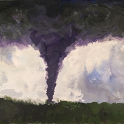 Tornado-Phoenix-Az-Encaustic-on-Masonite-8x10-inches-copyright-2007-Marilyn-Fenn
