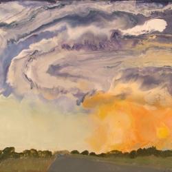 Tornado-Sioux-City-Nebraska-Encaustic-on-Masonite-8x10-inches-copyright-2007-Marilyn-Fenn