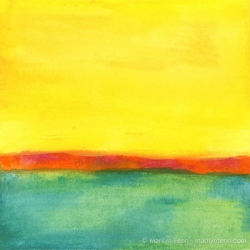 Minimalist-Landscapes-2011-10-001-Watercolor-crayons-on-watercolor-paper-6x6-inches-copyright-2012-Marilyn-Fenn