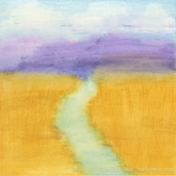 Minimalist-Landscapes-2011-10-003-Watercolor-crayons-on-watercolor-paper-6x6-inches-copyright-2012-Marilyn-Fenn
