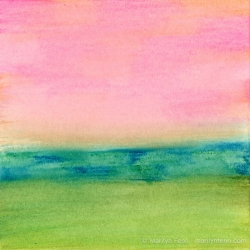 Minimalist-Landscapes-2011-10-004-Watercolor-crayons-on-watercolor-paper-6x6-inches-copyright-2012-Marilyn-Fenn