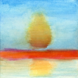 Minimalist-Landscapes-2011-10-005-Watercolor-crayons-on-watercolor-paper-6x6-inches-copyright-2012-Marilyn-Fenn