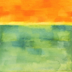 Minimalist-Landscapes-2011-10-010-Watercolor-crayons-on-watercolor-paper-6x6-inches-copyright-2012-Marilyn-Fenn